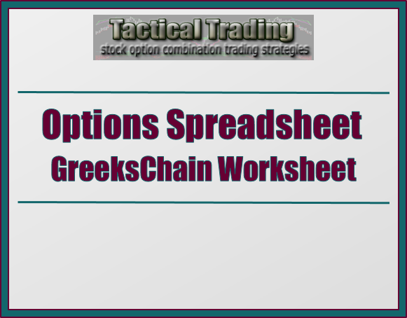 Options trading worksheet