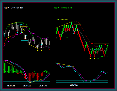 Renko Chart And Tick Chart Setups And Management